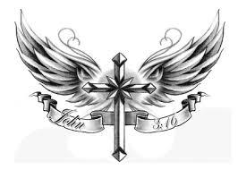 http www tattooforaweek com images wing cross temporary 20tattoo