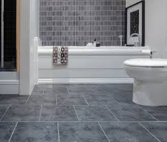 shabby black tiles flooring of bathroom design idea feat white