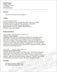 Objective In Resume For Customer Service Representative Customer Service Objective Stylish Idea Resume Objective Customer