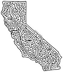 California Map Outline Mazes Outline By Eric J Eckert