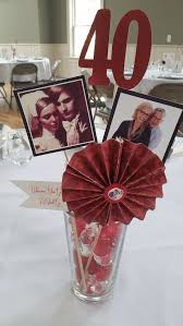 40 wedding anniversary gift 40th wedding anniversary party themes ruby 40th anniversary