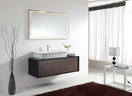 Bathroom Mirror Design Ideas Wonderful Brown Wooden Mount Bathroom Vanity Design Ideas With
