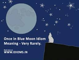 visual idioms once in a blue moon idiom meaning and origin with
