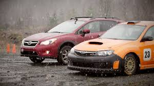 subaru crosstrek lifted subiesport tv megatest subaru xv crosstrek vs rally wrx sti
