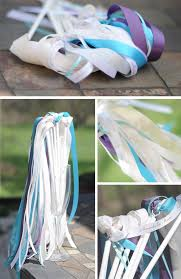 wedding wands how to make personalized ribbon wands