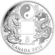 canada silver 8 coin tiger and yin and yang