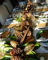 charming pine cone decorations thanksgiving centerpiece applied