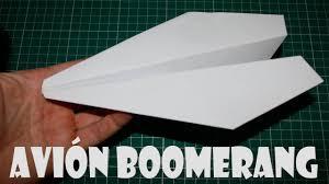 How Do You Make A Paper Boomerang - how to make a paper airplane boomerang returns