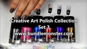 bundle monster set 3 creative art polish collection swatches