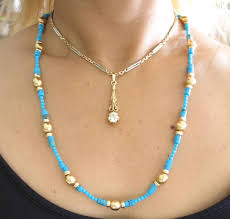 yellow turquoise necklace images Turquoise and gold necklace prettyugly me jpg
