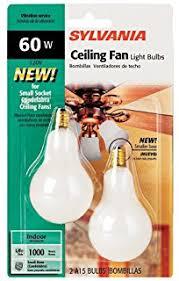 ceiling fan light base sylvania 4 pack 60 watt clear candelabra base ceiling fan light