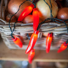 20 chili pepper battery operated led kitchen