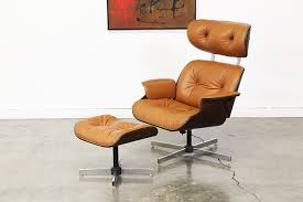 mid century leather lounge chair by plycraft vintage supply store