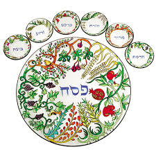 buy seder plate buy yair emanuel painted glass seven species seder plate israel