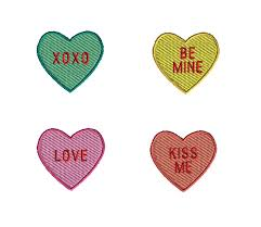 conversation heart mini conversation hearts machine embroidery design set