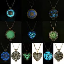 locket necklace aliexpress images Pendant necklace gift glowing luminous vintage necklaces blue jpg