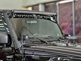 jeep light bar 2007 2017 jeep jk brow mount kit black rigid industries