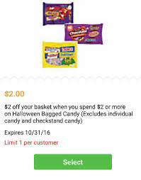 spirit halloween 20 off coupon 1 25 1 big bag of nestle halloween candy 25oz 11 1 2016 melissa s