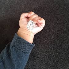 baby engagement rings images Kim kardashian posts photo of north west with engagement ring jpg