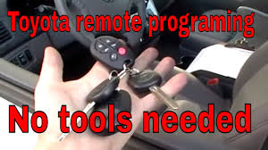 toyota car and remotes toyota how to program keyless entry remote