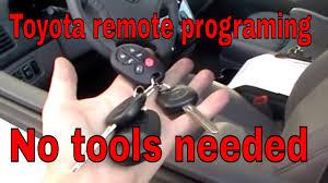 toyota yaris remote key not working toyota how to program keyless entry remote
