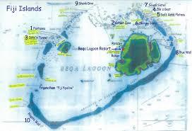 fiji resort map beqa island dive map mappery