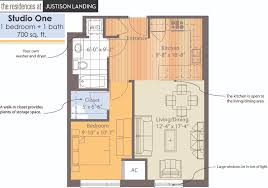 Apartment Blueprints One Bedroomone Bath From Blueprints Architect Cad Layout With One