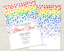 lets celebrations rainbow birthday party cards design decorations