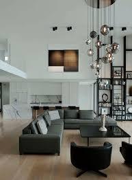 Living Room Pendant Lighting by Modern Living Room Lighting Using Pendant Lights On High Ceiling