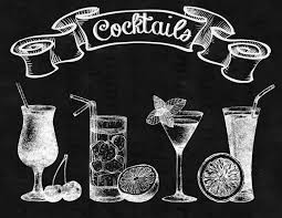 peppermint martini clip art cocktail chalkboard drawing google zoeken krijtborden