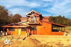 home design prefab barns sand creek post and beam log barns kits