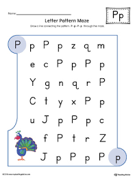 say and trace letter p beginning sound words worksheet color