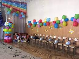 wonderful balloon themed party with rainbow color of balloon near