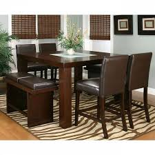 high dining room chairs counter high dining room sets hill creek black 5 pc counter