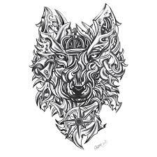 bladed wolf design custom design