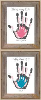 and me handprints keepsake craft