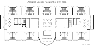 residential floor plan assisted living residential unit plan