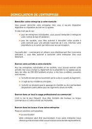 autorisation domiciliation si e social guide de la création d entreprise 2013