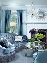 blue living room modern home design