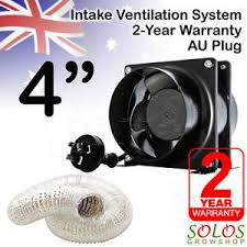 intake fan for grow tent 4 100mm hydroponic fan exhaust ventilation kit axial extractor grow