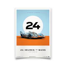 gulf porsche 917 porsche 917 gulf poster 24 hours of le mans automobilist