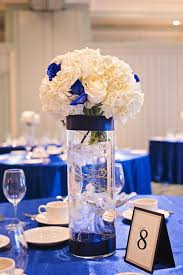 centerpieces for weddings royal blue and silver wedding centerpieces