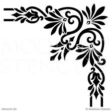 Stencils For Home Decor Corner Stencils For Custom Painted Floor Walls Ceiling U2013 Modello