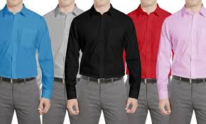 braveman classic fit s dress shirts groupon