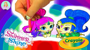 coloring book pages nick jr shimmer u0026 shine with crayola markers