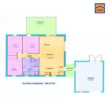 plan de maison 100m2 3 chambres plan de maison individuelle plain pied