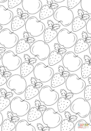 fruit pattern coloring page free printable coloring pages
