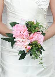 Peonies Bouquet Pink Silk Peony Bridal Bouquets Silk Wedding Bouquets Afloral Com