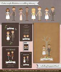 customized wedding invitations get a custom illustration of you poptastic