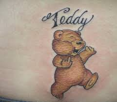 sweet teddy bear and teddy word tattoo tattooshunter com